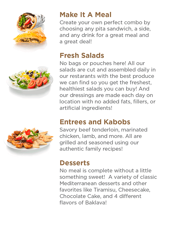 Greek Express Menu